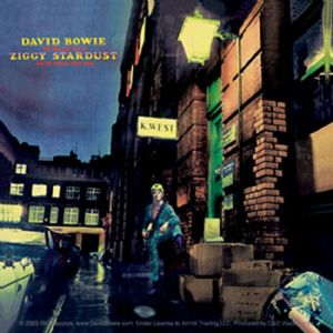 David Bowie Ziggy Stardust LP cover vinyl sticker 100mm x 100mm  (cv)